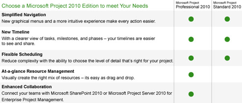 MS Project 2010, MS Project Server 2010: